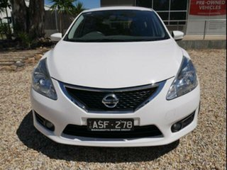 2016 Nissan Pulsar C12 Series 2 ST-L White Continuous Variable Hatchback.