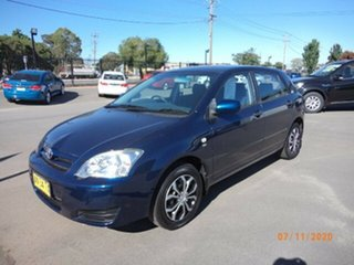2006 Toyota Corolla ZZE122R MY06 Conquest Seca Blue Metallic 4 Speed Automatic Hatchback.