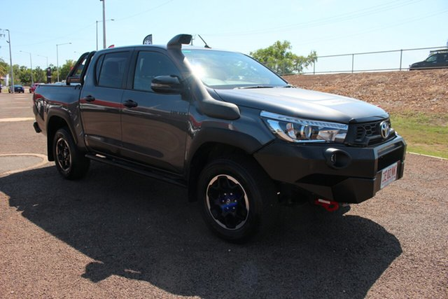 Pre-Owned Toyota Hilux GUN126R Rugged Double Cab Darwin, 2018 Toyota Hilux GUN126R Rugged Double Cab Graphite 6 Speed Sports Automatic Utility