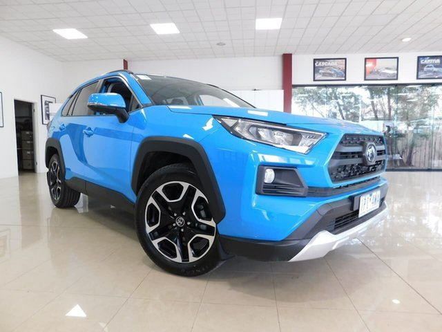 Pre-Owned Toyota RAV4 Axaa54R Edge AWD Wonthaggi, 2019 Toyota RAV4 Axaa54R Edge AWD Blue 8 Speed Sports Automatic Wagon