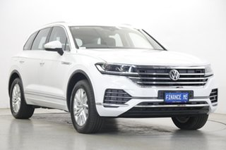 2019 Volkswagen Touareg CR MY20 190TDI Tiptronic 4MOTION Pure White 8 Speed Sports Automatic Wagon
