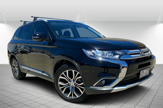 Used Mitsubishi Outlander ZK MY16 LS 4WD Hervey Bay, 2015 Mitsubishi Outlander ZK MY16 LS 4WD Black 6 Speed Constant Variable Wagon