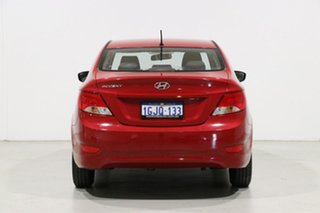 2017 Hyundai Accent RB4 MY17 Active Red 6 Speed CVT Auto Sequential Sedan