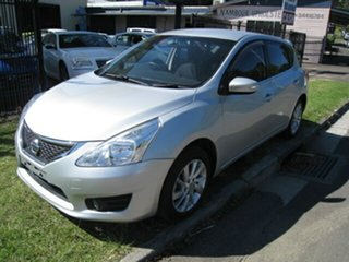 2013 Nissan Pulsar C12 ST-L Silver Continuous Variable Hatchback.
