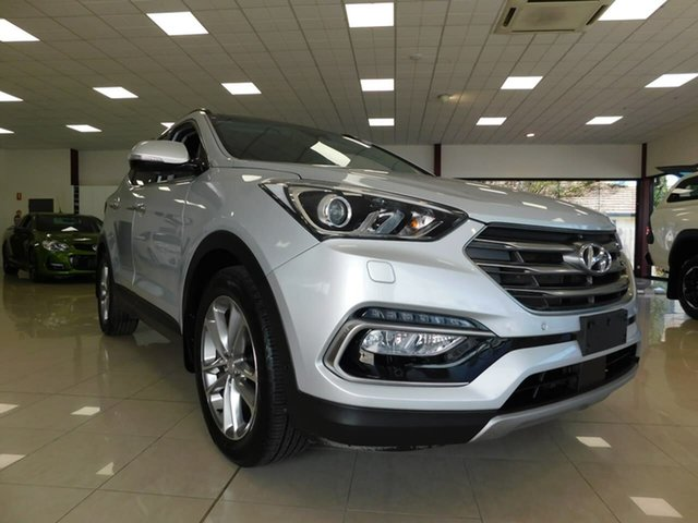 Used Hyundai Santa Fe DM3 MY16 Highlander Wonthaggi, 2016 Hyundai Santa Fe DM3 MY16 Highlander Silver 6 Speed Sports Automatic Wagon