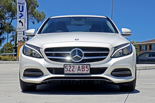 2015 Mercedes-Benz C-Class W205 C250 7G-Tronic + White 7 Speed Sports Automatic Sedan.