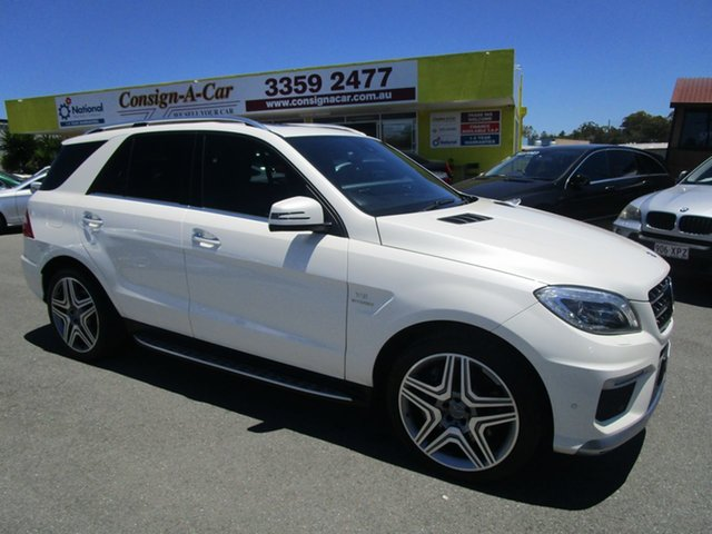 Used Mercedes-Benz M-Class W166 ML63 AMG SPEEDSHIFT DCT Kedron, 2012 Mercedes-Benz M-Class W166 ML63 AMG SPEEDSHIFT DCT White 7 Speed Sports Automatic Dual Clutch