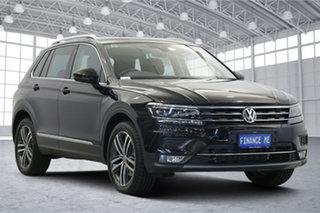 2019 Volkswagen Tiguan 5N MY19.5 162TSI DSG 4MOTION Highline Deep Black 7 Speed.