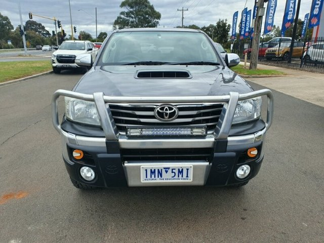 Used Toyota Hilux KUN26R MY14 SR5 Double Cab Melton, 2013 Toyota Hilux KUN26R MY14 SR5 Double Cab Grey 5 Speed Automatic Utility