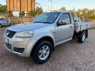 2013 Great Wall V240 K2 MY13 4x2 Silver 5 Speed Manual Cab Chassis.