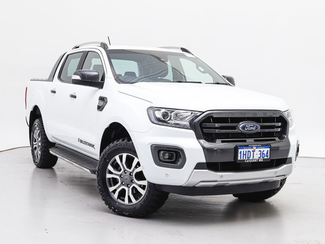 Used Ford Ranger PX MkIII MY19 Wildtrak 3.2 (4x4), 2018 Ford Ranger PX MkIII MY19 Wildtrak 3.2 (4x4) White 6 Speed Automatic Dual Cab Pick-up