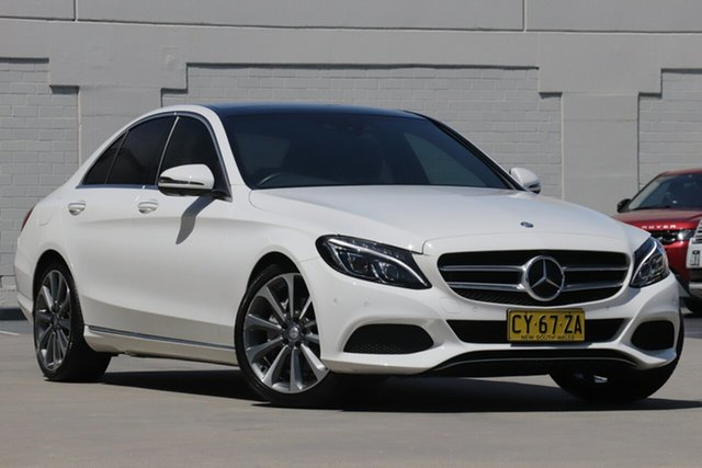 Used Mercedes-Benz C-Class W205 807MY C250 7G-Tronic + Brookvale, 2016 Mercedes-Benz C-Class W205 807MY C250 7G-Tronic + White 7 Speed Sports Automatic Sedan