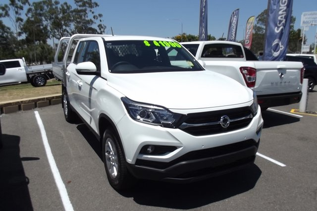 Demo Ssangyong Musso Q201 MY20.5 ELX Crew Cab XLV South Gladstone, 2020 Ssangyong Musso Q201 MY20.5 ELX Crew Cab XLV White 6 Speed Sports Automatic Utility