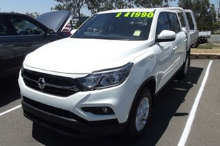 2020 Ssangyong Musso Q201 MY20.5 ELX Crew Cab XLV White 6 Speed Sports Automatic Utility.