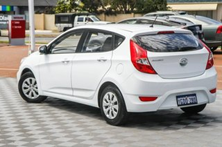 2016 Hyundai Accent RB4 MY16 Active White 6 Speed Manual Hatchback.