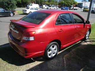 2007 Toyota Yaris NCP93R YRX Red 4 Speed Automatic Sedan