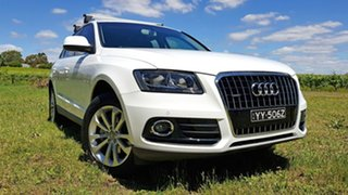 2013 Audi Q5 8R MY13 TDI S Tronic Quattro White 7 Speed Sports Automatic Dual Clutch Wagon.