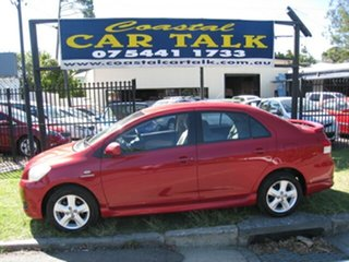 2007 Toyota Yaris NCP93R YRX Red 4 Speed Automatic Sedan.