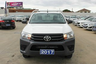 2017 Toyota Hilux TGN121R Workmate 4x2 White 6 Speed Sports Automatic Cab Chassis