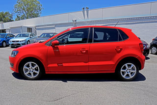 2010 Volkswagen Polo 6R 66TDI Comfortline Flash Red 5 Speed Manual Hatchback