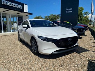 2020 Mazda 3 G20 Pure White 6 Speed Automatic Hatchback.