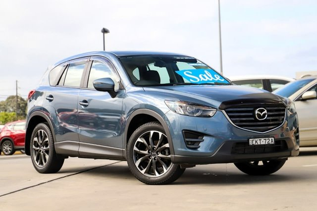 Used Mazda CX-5 KE1022 Grand Touring SKYACTIV-Drive AWD Kirrawee, 2015 Mazda CX-5 KE1022 Grand Touring SKYACTIV-Drive AWD Blue 6 Speed Sports Automatic Wagon