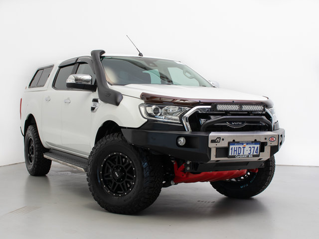 Used Ford Ranger PX MkII XLT 3.2 (4x4), 2016 Ford Ranger PX MkII XLT 3.2 (4x4) White 6 Speed Automatic Double Cab Pick Up
