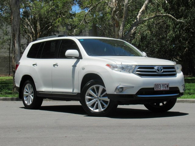Used Toyota Kluger GSU45R MY12 Grande AWD, 2012 Toyota Kluger GSU45R MY12 Grande AWD White 5 Speed Sports Automatic Wagon