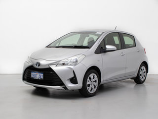 2017 Toyota Yaris NCP130R MY17 Ascent Silver 4 Speed Automatic Hatchback.