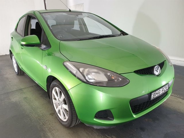 Used Mazda 2 DE10Y1 Maxx Maryville, 2008 Mazda 2 DE10Y1 Maxx Green 5 Speed Manual Hatchback