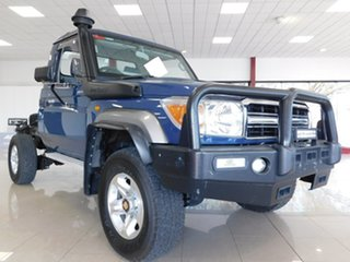 2016 Toyota Landcruiser VDJ79R GXL Blue 5 Speed Manual Cab Chassis.