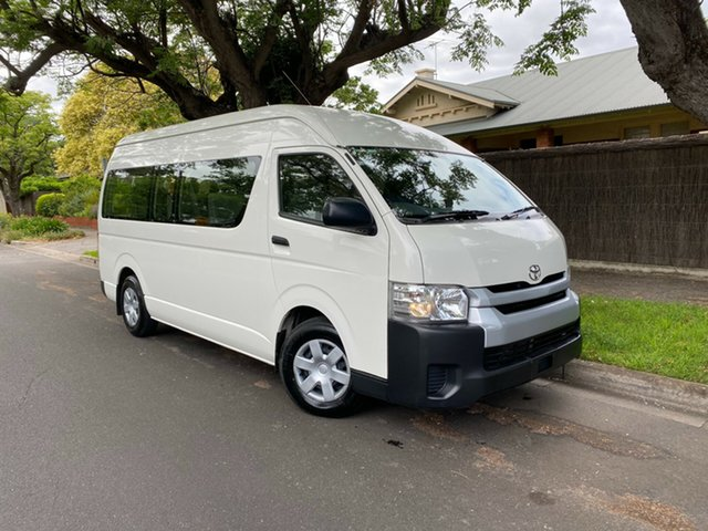 Used Toyota HiAce KDH223R Commuter High Roof Super LWB Hawthorn, 2019 Toyota HiAce KDH223R Commuter High Roof Super LWB White 4 Speed Automatic Bus
