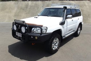 2011 Nissan Patrol GU 7 MY10 ST White 5 Speed Manual Wagon.