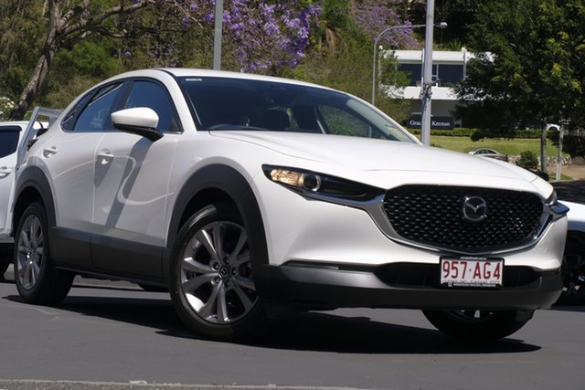 Demo Mazda CX-30 DM2W7A G20 SKYACTIV-Drive Evolve Newstead, 2020 Mazda CX-30 DM2W7A G20 SKYACTIV-Drive Evolve Snowflake White 6 Speed Sports Automatic Wagon