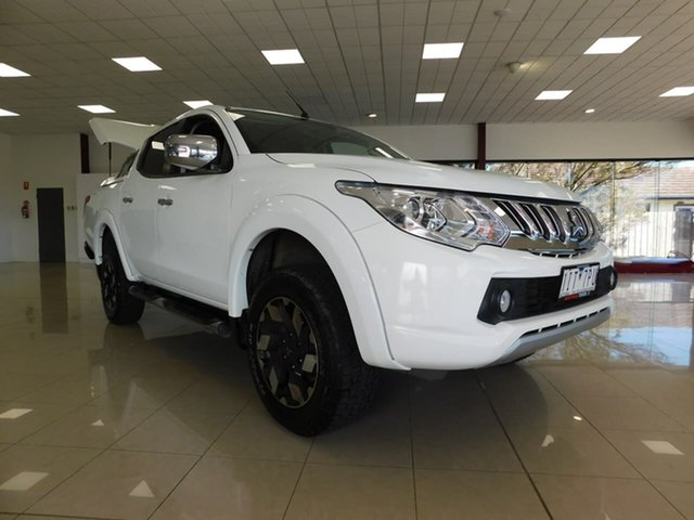 Used Mitsubishi Triton MQ MY17 Exceed Double Cab Wonthaggi, 2016 Mitsubishi Triton MQ MY17 Exceed Double Cab White 5 Speed Sports Automatic Utility