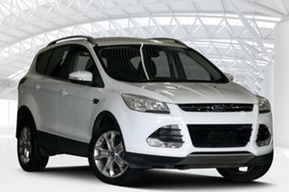 2014 Ford Kuga TF Trend (AWD) Frozen White 6 Speed Automatic Wagon.