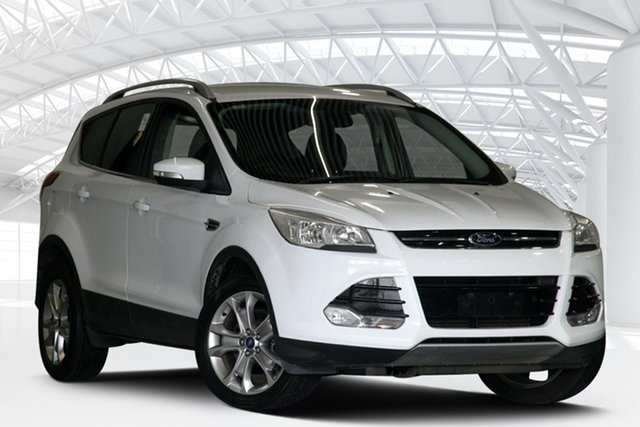 Used Ford Kuga TF Trend (AWD) Moorebank, 2014 Ford Kuga TF Trend (AWD) Frozen White 6 Speed Automatic Wagon