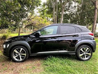 2020 Hyundai Kona OS.3 MY20 Highlander D-CT AWD Phantom Black 7 Speed Sports Automatic Dual Clutch.