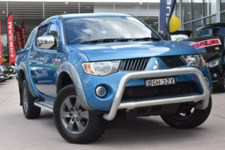 2008 Mitsubishi Triton ML MY08 GLX-R Double Cab Blue 4 Speed Automatic Utility.