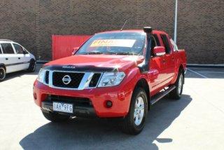 2013 Nissan Navara D40 MY12 ST (4x4) Red 6 Speed Manual Dual Cab Pick-up.