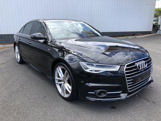 2015 Audi A6 4G MY15 S Line S Tronic Black 7 Speed Sports Automatic Dual Clutch Sedan.