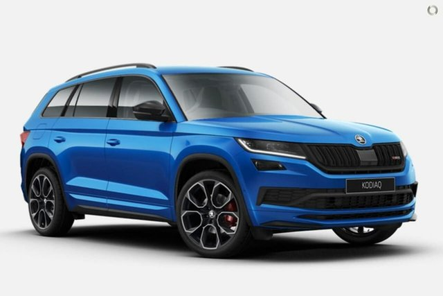 New Skoda Kodiaq NS MY20.5 RS DSG Seaford, 2020 Skoda Kodiaq NS MY20.5 RS DSG Blue 7 Speed Sports Automatic Dual Clutch Wagon