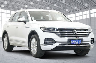 2019 Volkswagen Touareg CR MY20 190TDI Tiptronic 4MOTION Pure White 8 Speed Sports Automatic Wagon.