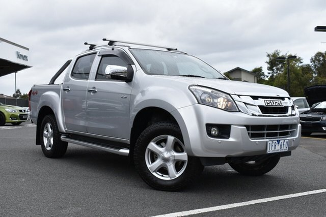 Used Isuzu D-MAX MY15 LS-Terrain Crew Cab Wantirna South, 2015 Isuzu D-MAX MY15 LS-Terrain Crew Cab Billet Silver 5 Speed Sports Automatic Utility