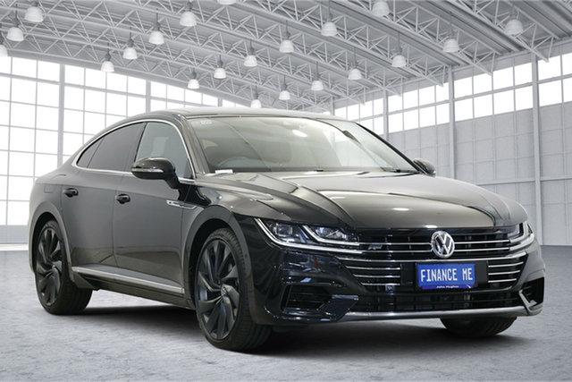 Used Volkswagen Arteon 3H MY19 206TSI Sedan DSG 4MOTION R-Line Victoria Park, 2019 Volkswagen Arteon 3H MY19 206TSI Sedan DSG 4MOTION R-Line Deep Black Pearl 7 Speed