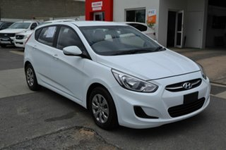 2016 Hyundai Accent RB4 MY16 Active White 6 Speed CVT Auto Sequential Hatchback