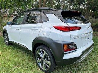 2020 Hyundai Kona OS.3 MY20 Highlander 2WD Chalk White Black Roof 6 Speed Sports Automatic Wagon