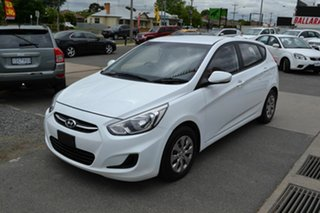 2016 Hyundai Accent RB4 MY16 Active White 6 Speed CVT Auto Sequential Hatchback.