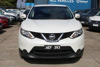 2015 Nissan Qashqai J11 ST White Continuous Variable Wagon.