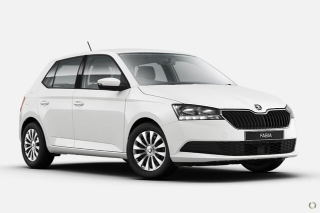 New Skoda Fabia NJ MY20.5 81TSI DSG Seaford, 2020 Skoda Fabia NJ MY20.5 81TSI DSG White 7 Speed Sports Automatic Dual Clutch Hatchback